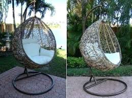 outdoor wicker swing chair dawson outdoor wicker basket swing chair with stand