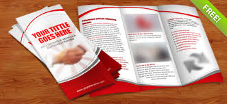 Foldable Brochure Template Free Tri Fold Brochure Psd Template Free Psd Files