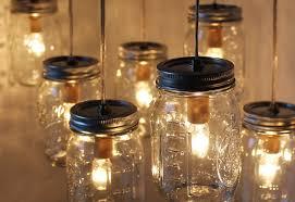 image of diy mason jar light fixture image