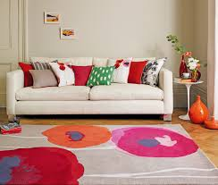 poppies red orange rug