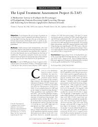 the lipid treatment assessment project l tap cardiology jama first page pdf preview