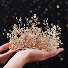 <b>Himstory Royal</b> Luxury Baroque <b>Handmade</b> Gold Branch Crystal ...