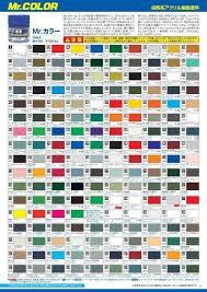 Model Master Enamel Paint Chart Pdf Mr Hobby Mr Color Gunze Paint Lacquer C1 C41 10ml Japan