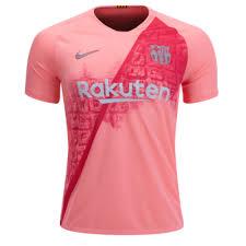 Away Pink Kit shirt short 18-19 Jersey Third Barcelona Soccer