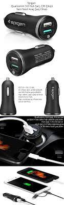 Spigen Essential 30W Hızlı Araç Şarj Cihazı 2 Port USB Fiyatı