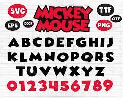 Mickey font svg mickey font cricut mickey font svg disney | Etsy | Mickey  font, Mickey mouse font, Disney font