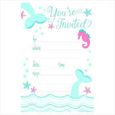 Free Mermaid Invitation Template Mickey Mouse Baby Shower
