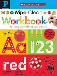 Amazon Com Wipe Clean Workbook Pre K Scholastic Early