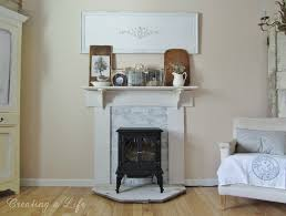 Diy Fireplace Mantel Adding Character To A Rental Home The Diy Faux Mantel Details