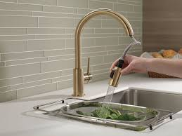 Delta Pull Down Kitchen Faucet Delta Faucet 9159 Cz Dst Trinsic Single Handle Pull Down Kitchen