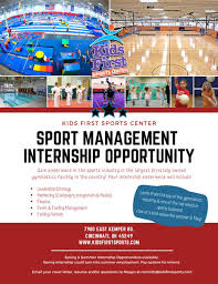 Sports Internship Cover Letters Sport Management Internship Opportunity