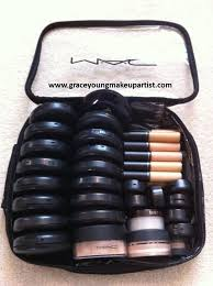 here s a look inside my freelance kit it mainly conns mac cosmetics but there are
