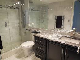White Luxury Bathroom walk in shower and stand alone soaker tub, natural  stone wall -