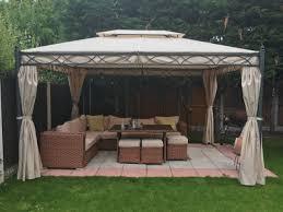 garden gazebo. 3x4M Metal Gazebo Pavilion Garden Tent Canopy Sun Shade Shelter Marquee Greenbay