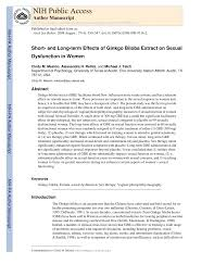 Ginkgo biloba extract sexual dysfunction women