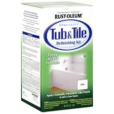 white tub and tile refinishing kit