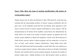 does the issue of nuclear proliferation still matter in world  document image preview