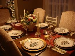 dining table decration christmas