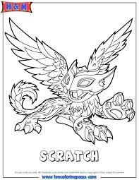 Free Printable Skylanders Academy Coloring Pages Skylander Free