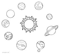 Solar System For Coloring Entucorg