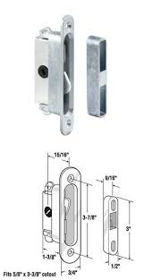 sliding wood or glass patio door mortise lock and keeper