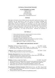 Terrific Physical Education Teacher Resume Horsh Beirut