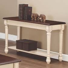 wood sofa table white console table