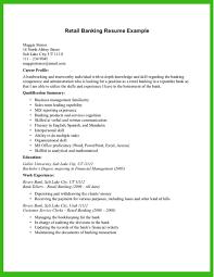Retail Banking Resume Example Retail Banking Resume Example Resume
