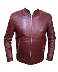 leather jacket maroon colour simple design at best s in stan daraz pk