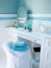 white tiled bathroom vanity with blue accent tile blue wallatching blue accents