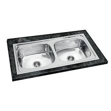 snless steel 45x20x9 amc double bowl sink