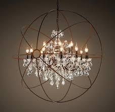 crystal globe chandelier chrome orb about home decor modern beaded