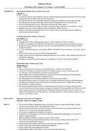 Business Solutions Analyst Resume Samples Velvet Jobs
