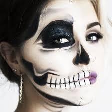 these half skeleton makeup looks are pletely mesmerizing