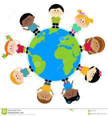 Image result for world map with children around it