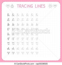 Kindergarten Writing Pages Tracing Lines Basic Writing Worksheet For Kids Working Pages For