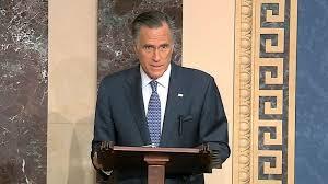Invoking his faith, an emotional Mitt Romney explains vote to convict Trump  - ABC News