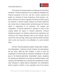 Financial Report Templates Stunning Report On Ratio Analysis By A Project Report On Financial Statement