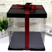 3 Size Gift Box Custom Transparent Pet Birthday Cake Box