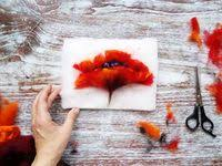 897 Best idei images in 2020 | Fabric painting, Felt art, Nuno felting