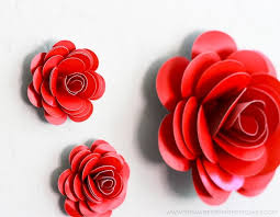 Make Easy Paper Flower How To Make A Paper Rose Easy To Follow Video Tutorial