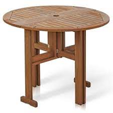 umbrella hole wood patio tables