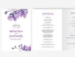 Wedding Booklet Template Wedding Program Booklet Diy Editable Ms Word Template Purple Orchid