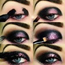black and lilac galaxy eye makeup tutorial evatornado