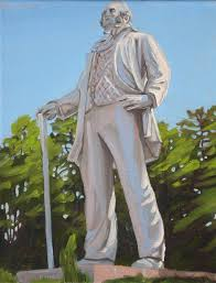 a little painting of a big monument sam houston starving artist spring clearance day 4