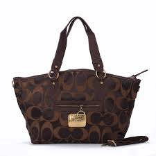 Best Style Coach Legacy In Signature Jacquard Medium Coffee Totes Ewi  Outlet My5BB