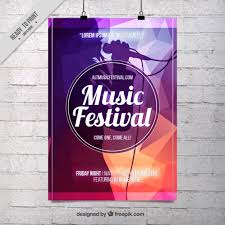 Free Music Poster Templates Abstract Music Festival Poster Template Vector Free Download