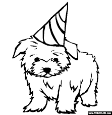 Cute dog pack coloring page: Dogs Online Coloring Pages