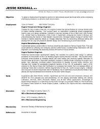 Mechanical Resume Objective Mechanical Engineer Resume Sample httpwwwresumecareer 2