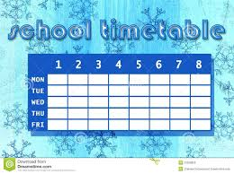 timetable template school business proposal template sample school timetable stock photo image 33306820 school timetable template blue abstract background winter theme 33306820 stock